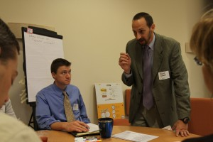 Vince leading discussion at Community Health Needs Assessment forum