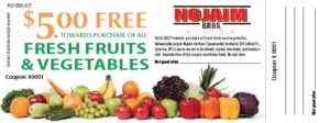 Fruit and vegetable coupon