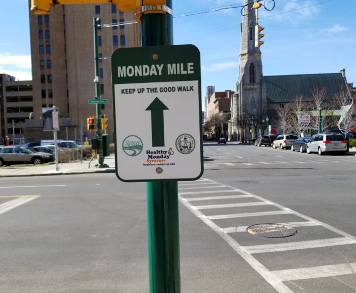 Monday Mile Sign