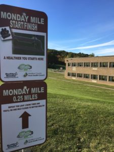 Stockbridge School Monday Mile Signage