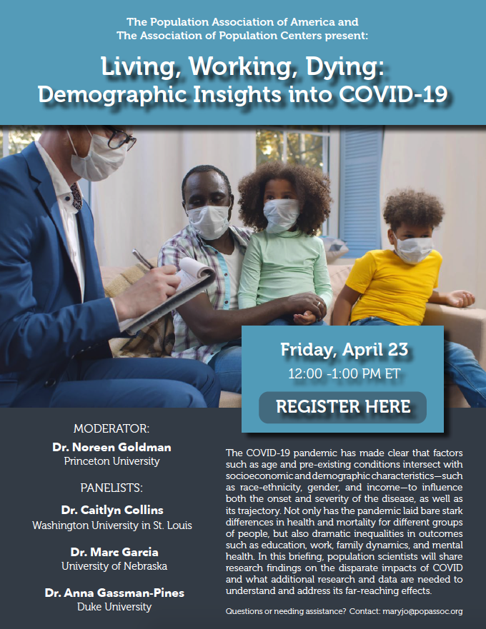 PAA Briefing: Living, Working, Dying: Demographic Insights into COVID-19