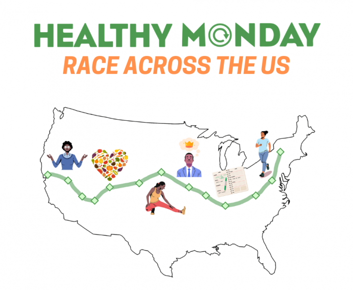 Healthy Monday Race Across the US Map
